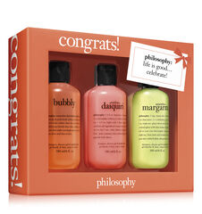 congrats! 3-piece shower gel set