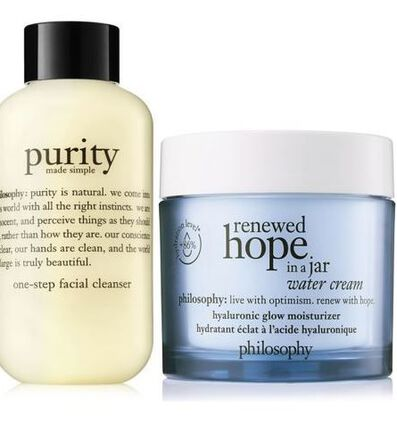 philosophy, cleanse & moisturizer duo
