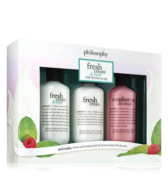 fresh cream shower gel set