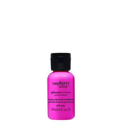 philosophy, raspberry sorbet 1oz. shower gel