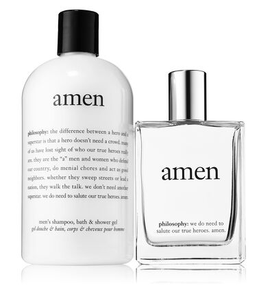 philosophy, amen mens bundle featuring shampoo and edt
