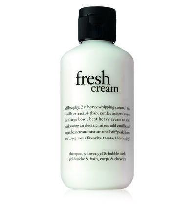 philosophy, fresh cream
