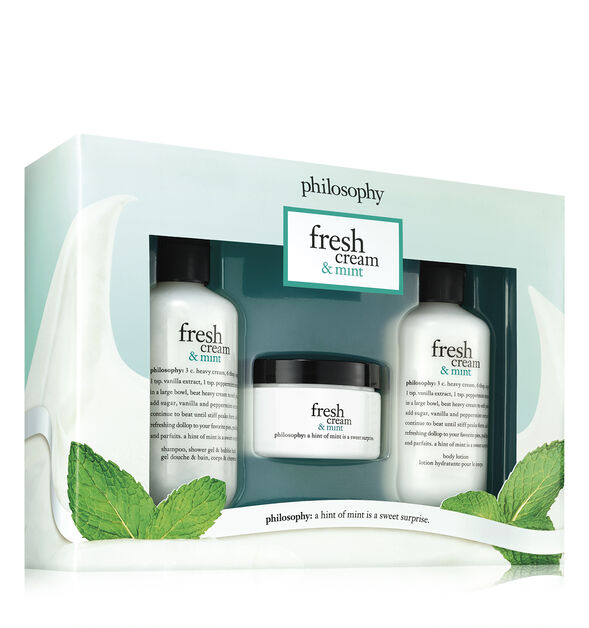 fresh cream & mint trio