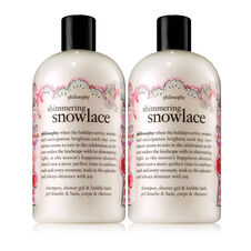 philosophy, shimmering snowlace shower gel duo