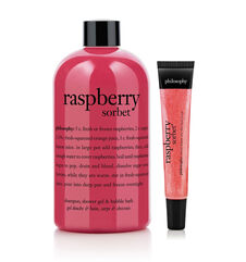 philosophy, raspberry sorbet bath duo