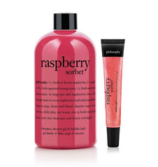 philosophy, raspberry sorbet