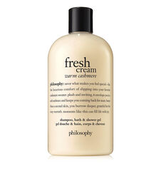 fresh cream warm cashmere shampoo, bath, & shower gel