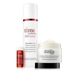 time in a bottle resist·renew·repair serum and anti-wrinkle miracle worker moisturizer,better together: time duo