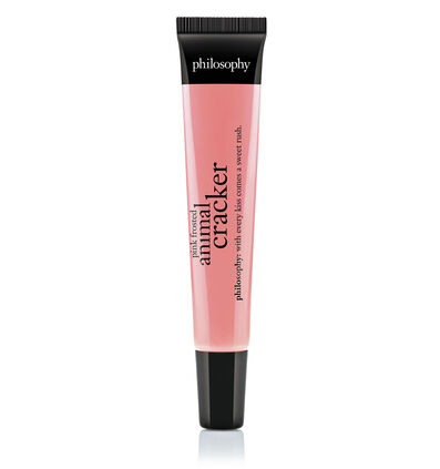 philosophy, pink frosted animal cracker lip shine