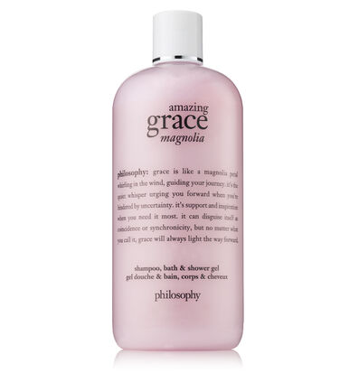 philosophy, amazing grace magnolia shampoo, bath & shower gel