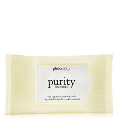 philosophy, purity made simple one step facial cleansing cloths