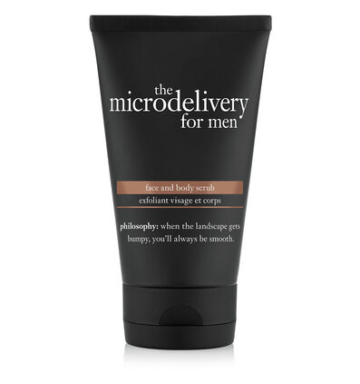 philosophy, the microdelivery for men face and body scrub