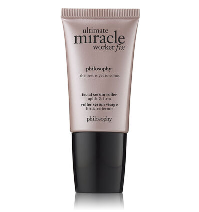 philosophy, ultimate miracle worker fix facial serum roller