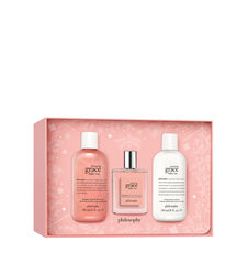 amazing grace ballet rose shower gel, eau de toilette & body lotion gift set