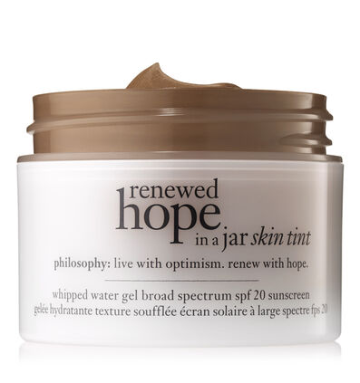 philosophy, renewed hope in a jar skin tint shade 9.5 cocoa