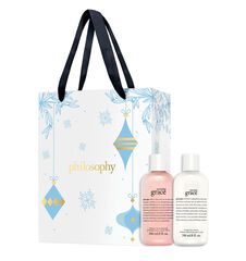 holiday amazing grace duo shower gel and body lotion set + gift bag