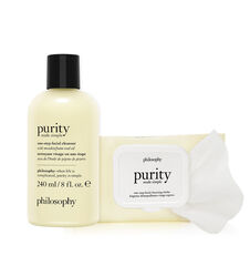 purity made simple 2-piece cleanser & wipes holiday gift bundle