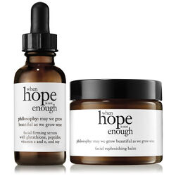 daily facial firming serum & facial replenishing balm,when hope is not enough day and balm duo