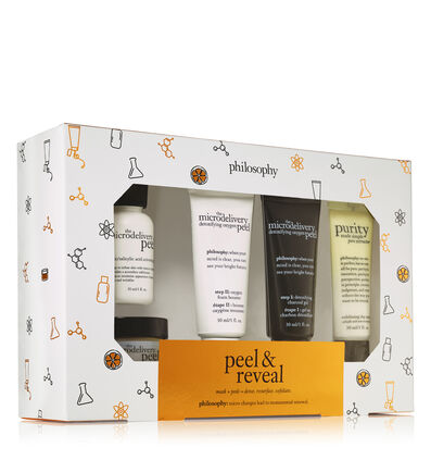 philosophy, peel and reveal mask and peel set