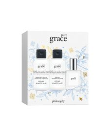 mini pure grace mini shower gel, eau de toilette, & body lotion gift set