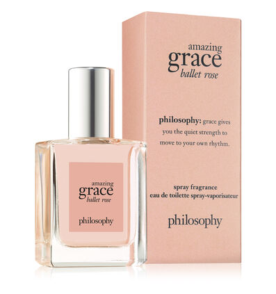 philosophy, amazing grace ballet rose spray fragrance, .5oz with box