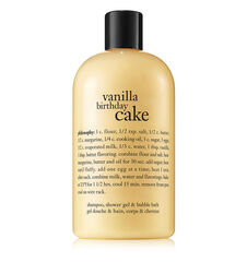 vanilla birthday cake shampoo, shower gel & bubble bath