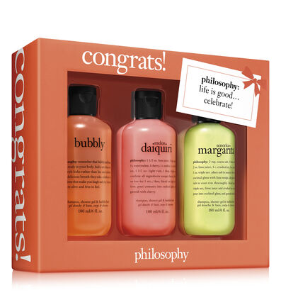 philosophy, congrats! 3 piece shower gel set