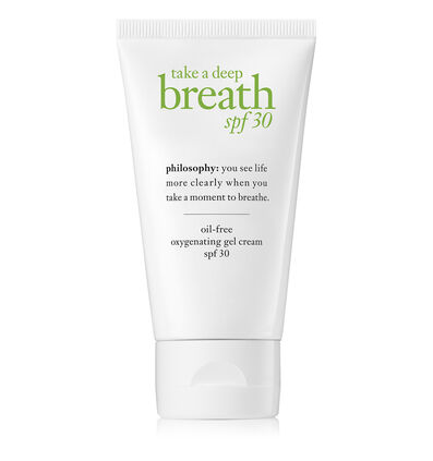 philosophy, take a deep breath oil-free gel cream spf 30