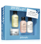 philosophy, away we go 4 piece travel set