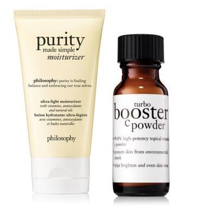 philosophy, purity moisturizer and turbo booster duo