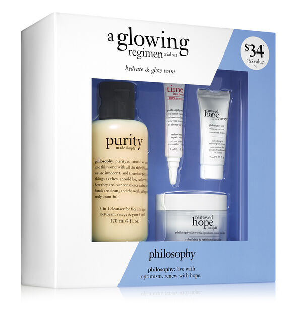 a glowing regimen trial set