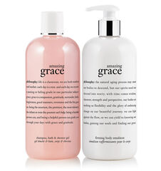 amazing grace shampoo, bath & shower gel and firming body lotion