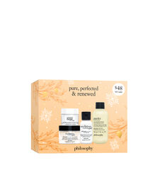pure, perfected & renewed set 3-piece skin care set