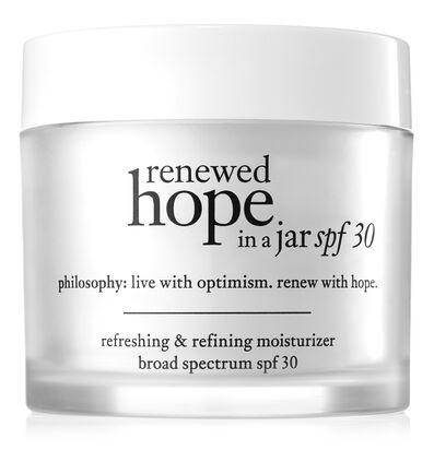 philosophy, renewed hope in a jar spf30 2oz. moisturizer