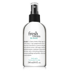 fresh cream and mint perfumed body spritz