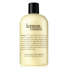 lemon custard shampoo, shower gel & bubble bath