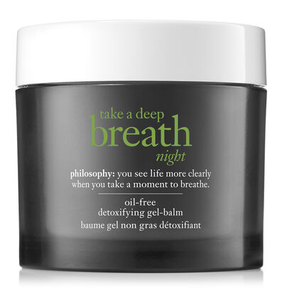 philosophy, take a deep breath gel-balm night