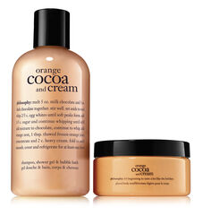 philosophy, orange cocoa and cream duo