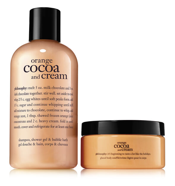 orange cocoa and cream duo