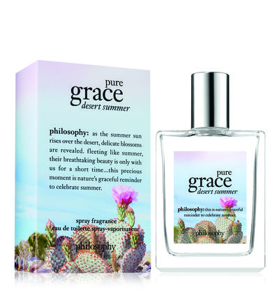 philosophy, pure grace desert summer spray fragrance, with box