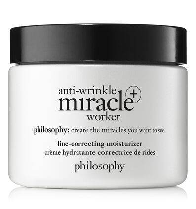 philosophy, anti-wrinkle miracle worker+ line correcting moisturizer