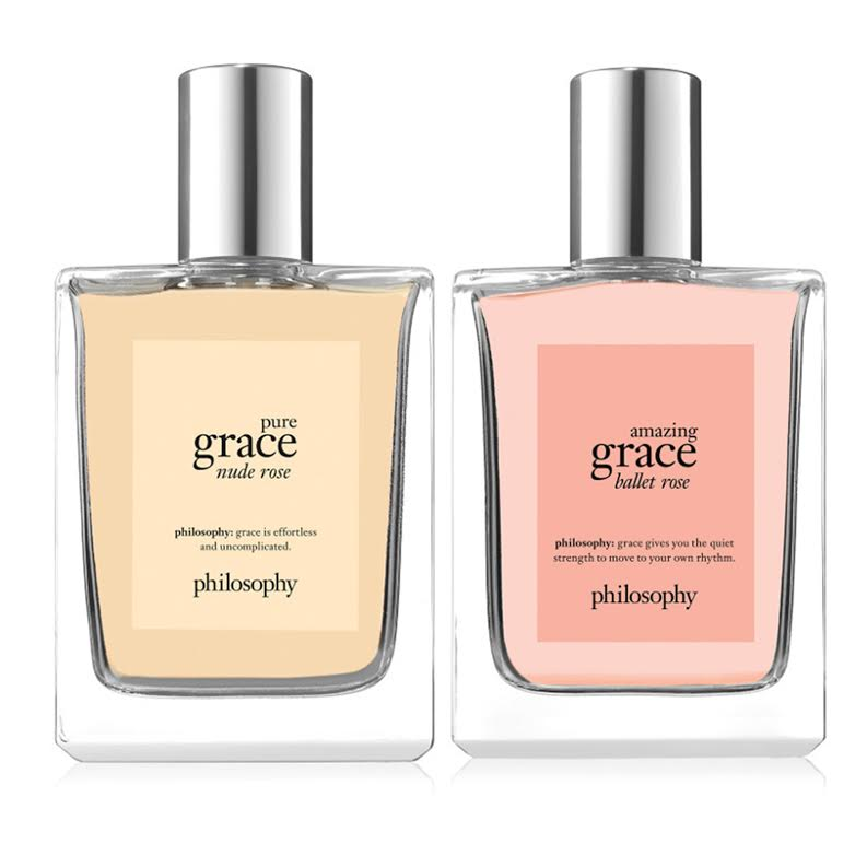 philosophy, amazing grace ballet rose + pure grace nude rose fragrance duo