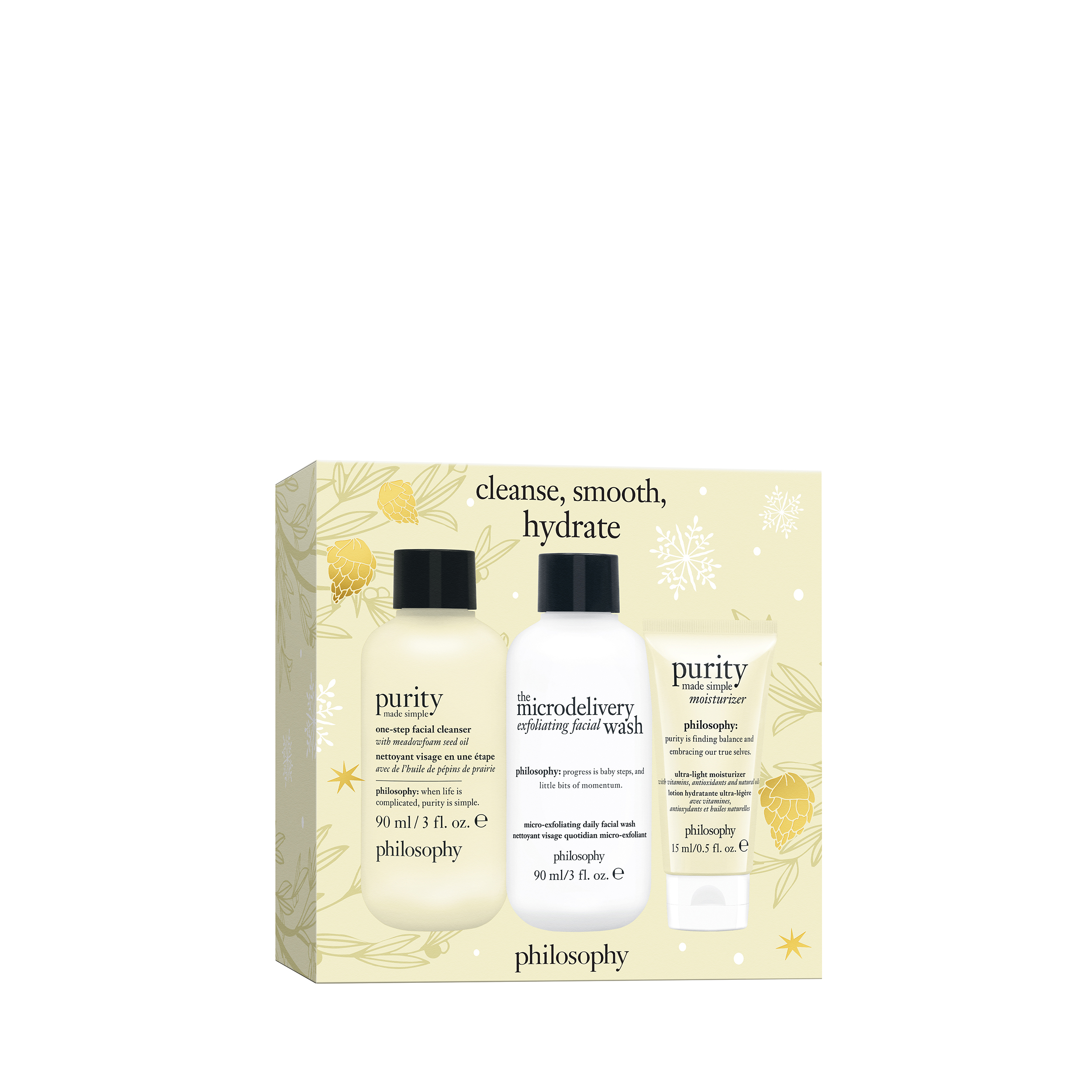 cleanse, smooth & hydrate set 3-piece skin care set