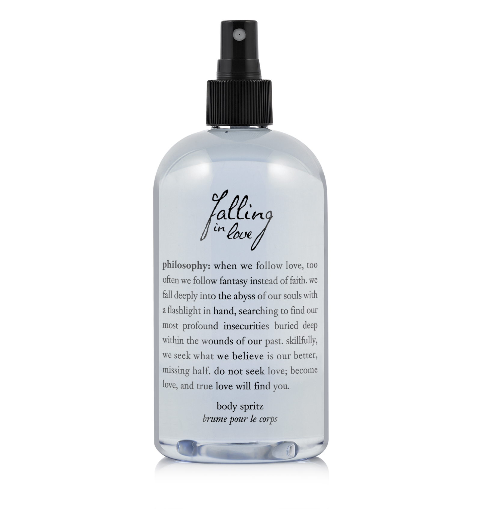 philosophy, falling in love body spritz