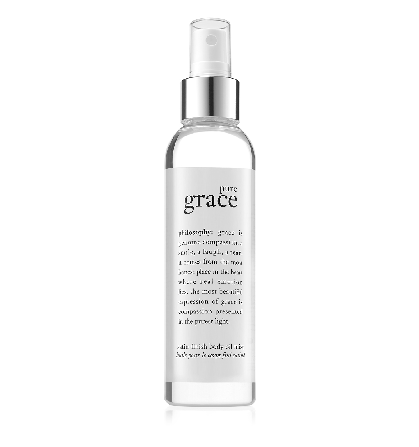 pure grace satin-finish body oil mist