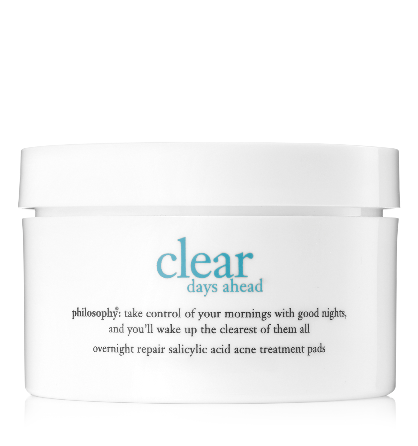 philosophy, clear days ahead overnight repair acne treatment pads