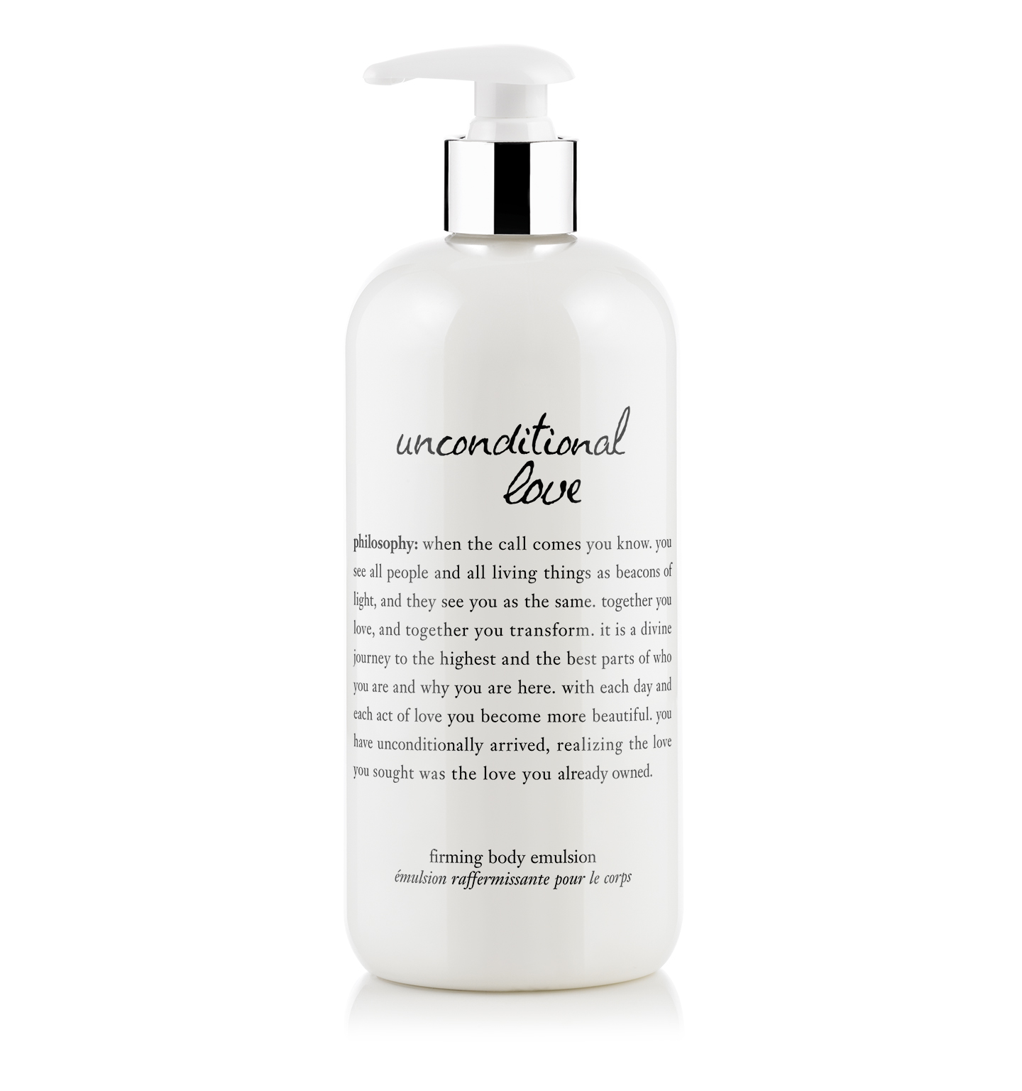 philosophy, unconditional love 16 oz body emulsion