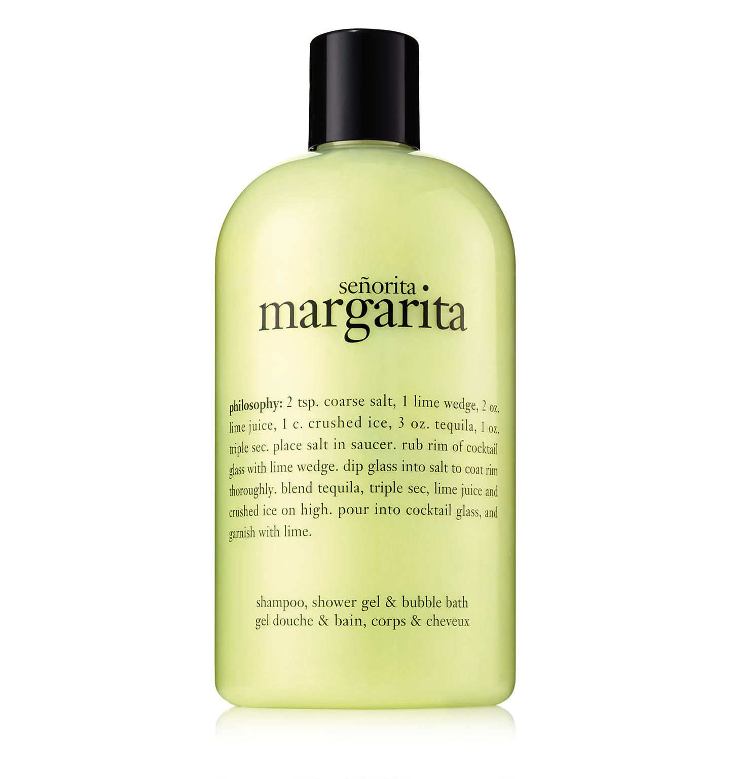 senorita margarita shampoo, shower gel & bubble bath