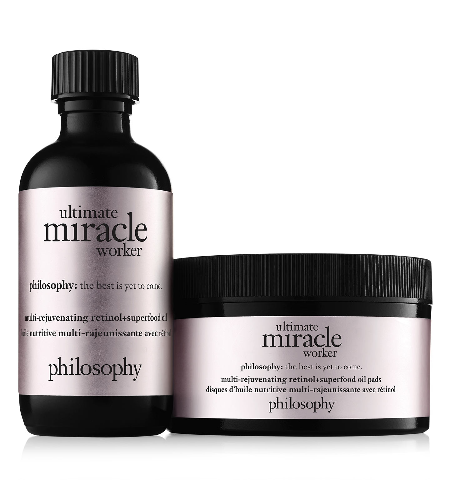 philosophy, ultimate miracle worker retinol + superfood oil pads