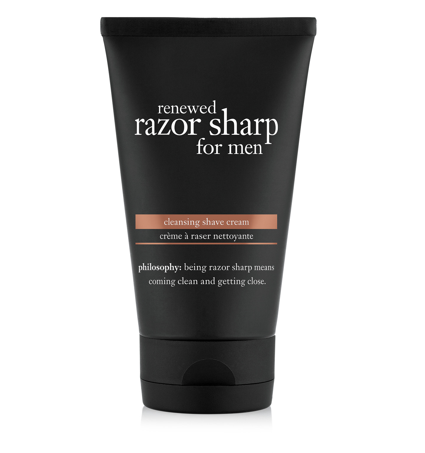 philosophy, renewed razor sharp cleansing shave cream